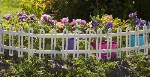 cerco plastico para jardin de colores por 1mts - beruplast