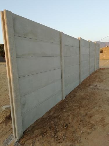 cerco pre fabricado concreto columnas y placas.