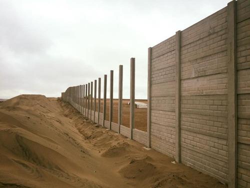cerco prefabricado concreto , obra civil, movimiento tierra