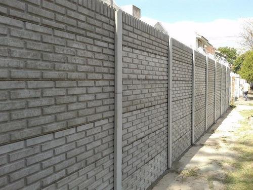 cerco premoldeado fabrica e instala ladrillo liso cemento