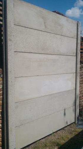 cerco premoldeado hormigon pared tapial muro liso