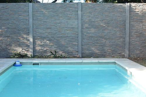 cerco premoldeado hormigon pared tapial muro simil piedra