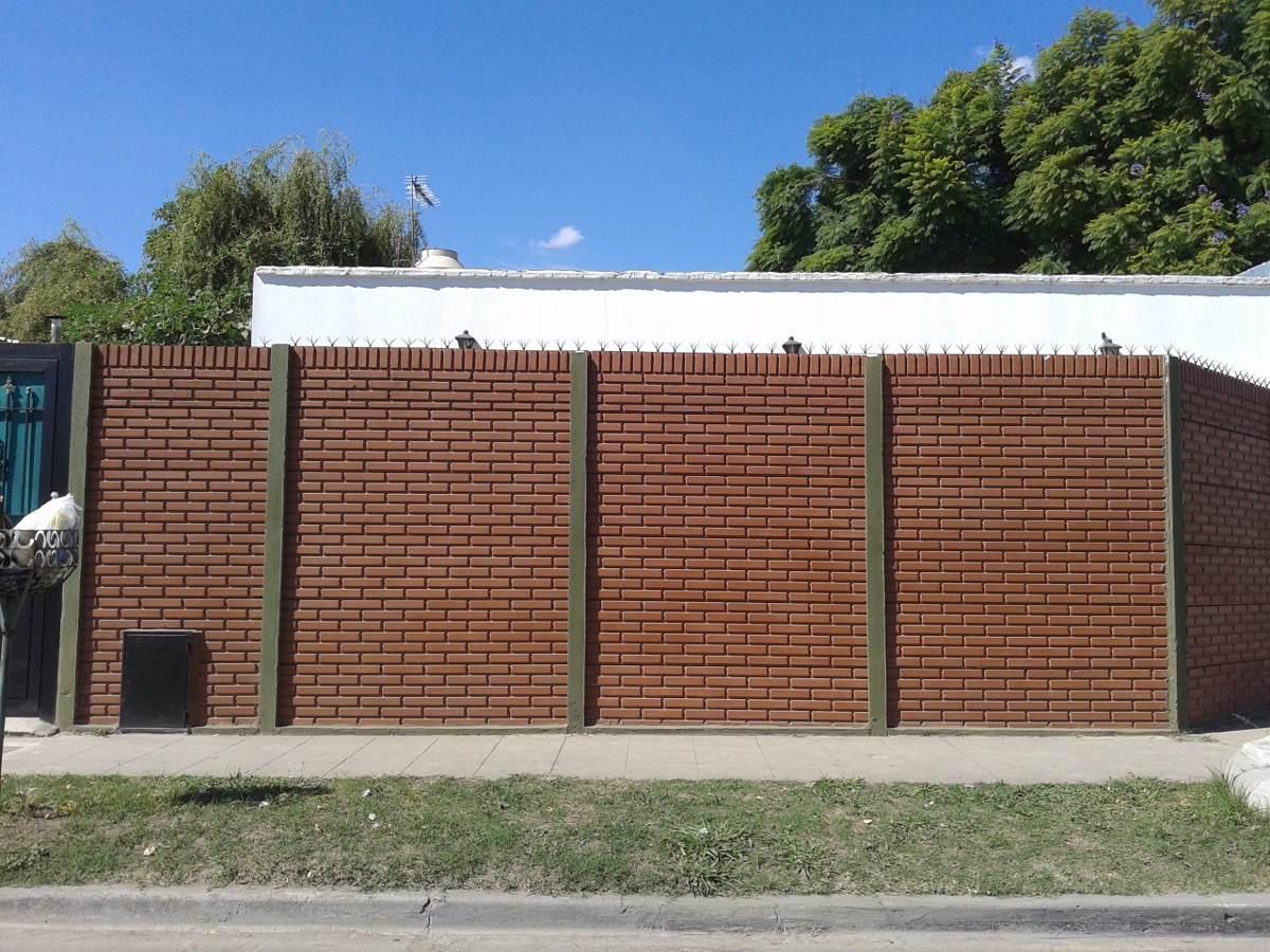 Cerco premoldeado muro pared medianera hormigon 120 en - Muros de ladrillo visto ...