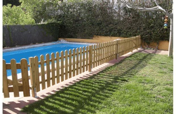 Cercos cercas piscinas jardin y divisorias en madera - Cercas de madera ...