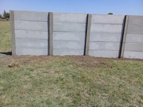 cercos, muros, tapiales y paredes de hormigón premoldeados..
