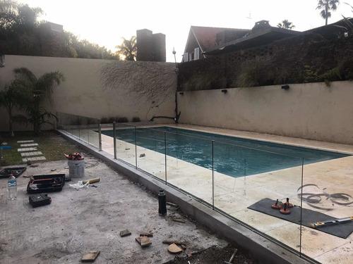 cercos para  piscina , barandas de seguridad en vidrio