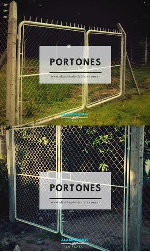 cercos perimetrales, alambrados, postes, en la plata y bsas