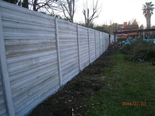 cercos premoldeado, medianeras, muros, hacemos colocacion .