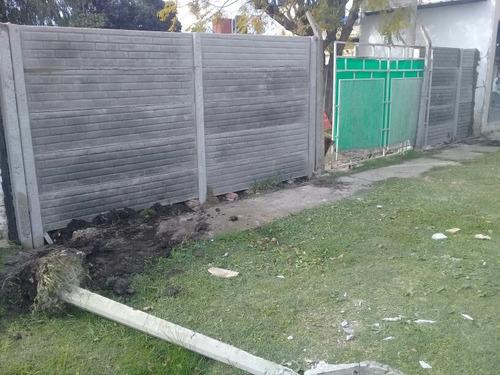 cercos premoldeados, demoliciones y movimiento de suelo