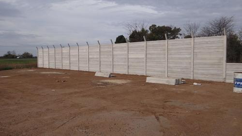 cercos premoldeados, muros , medianeras, tapiales .