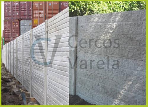 cercos premoldeados / placas / hormigón - cercos varela