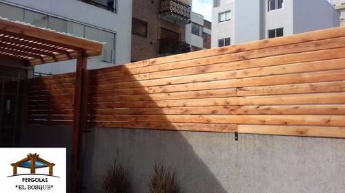 cercos y medianeras de madera x m2