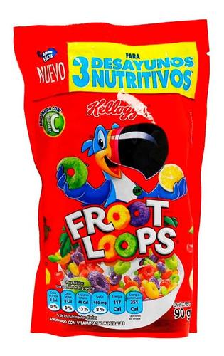 cereal de maiz y trigo sabor frutas froot loops kelloggs 90