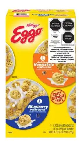 cereal eggo kellog's maple y blueberry 2 pzas de 384 g c/u