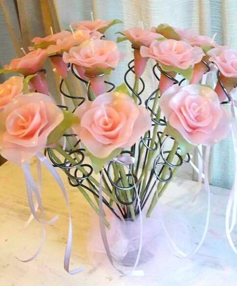 Ceremonia De Velas 15 Rosas Porta Velas De Hierro Decorado