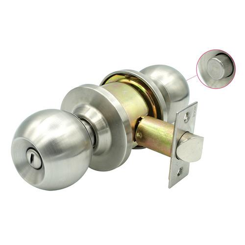 cerradura baño de pomo carolina cromada inox s/s seguro ref: