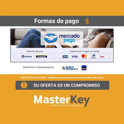 cerradura biométrica con huella + clave masterkey