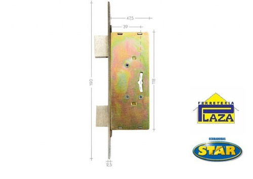 cerradura cerrojo de seguridad star 700