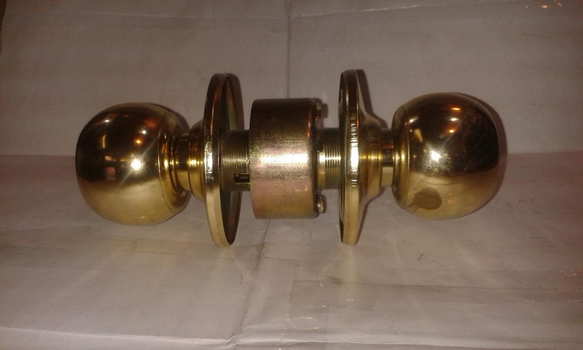 Cerradura cerrojo pomo en acero y bronce nuevo con - Pomos con cerradura ...