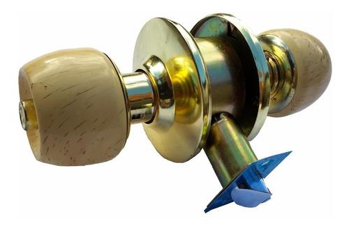 cerradura chapa cilindrica pomo madera 3 llaves mayor detal