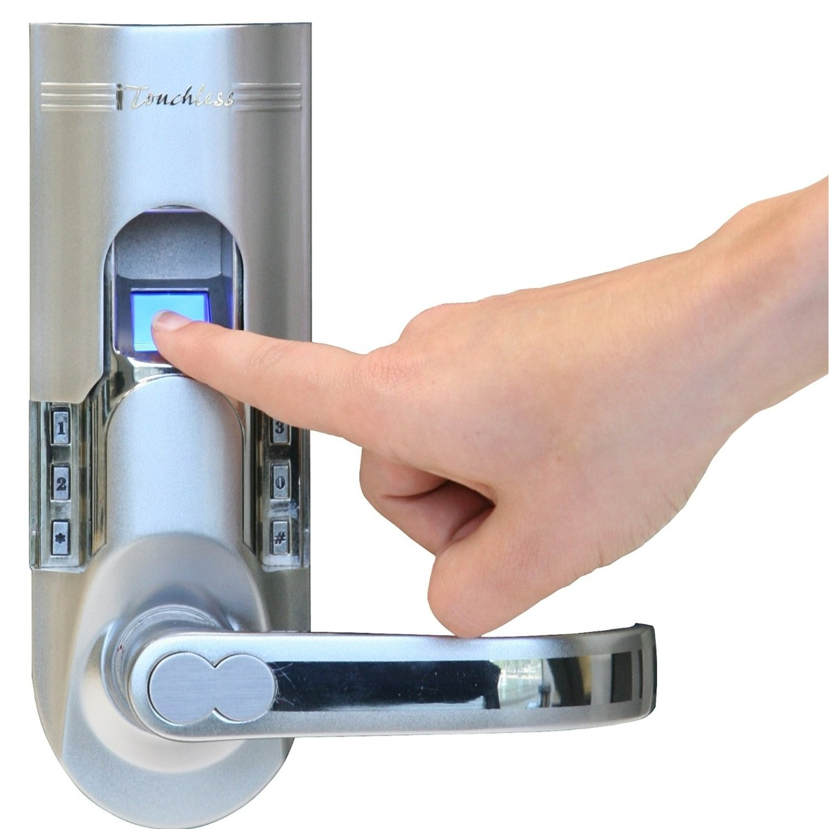 Cerradura chapa de seguridad para puerta huella 7 325 - Cerradura seguridad puerta ...