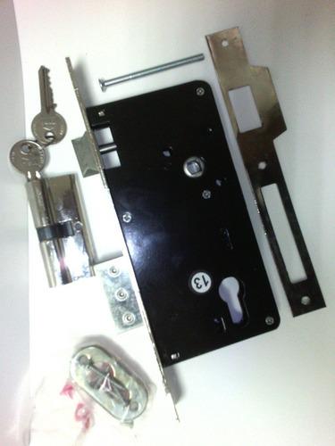 cerradura cisa de embutir 45mm, p/t, cilindro y 2 llaves