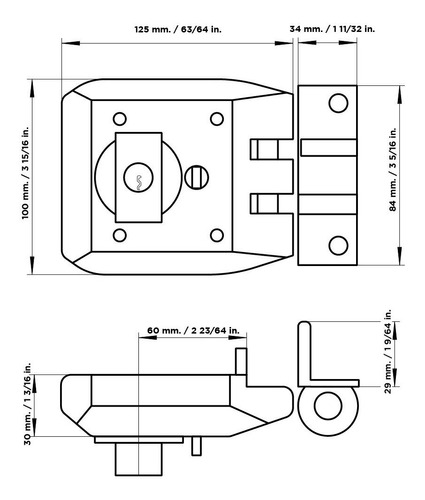 cerradura cisa jimmy proof cilindro suelto pomo fijo