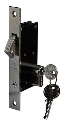 cerradura de embutir gancho 30mm medio cilindro 38mm cisa