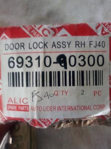 cerradura de puerta de rhy lh toyota fj40 nuevas caja