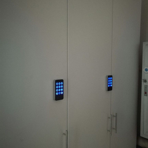 cerradura de puerta electronica digital contraseña silver