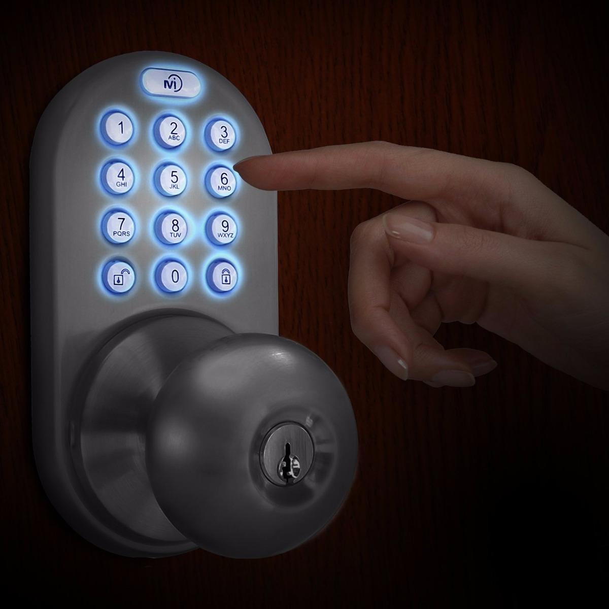 Cerradura de puerta sin llave con sistema t ctil for Cerradura sin llave