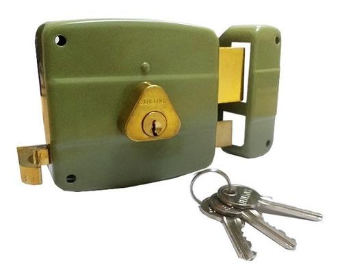 cerradura de sobreponer cilindro fijo para puerta bluexpress