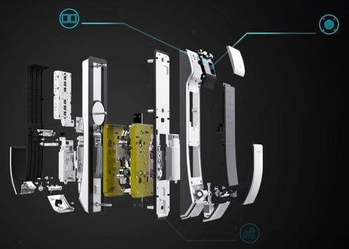 cerradura digital kaadas k7 alemana + candado de huella