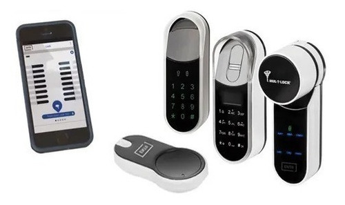 cerradura digital mul-t-lock entr huella biometrica celular