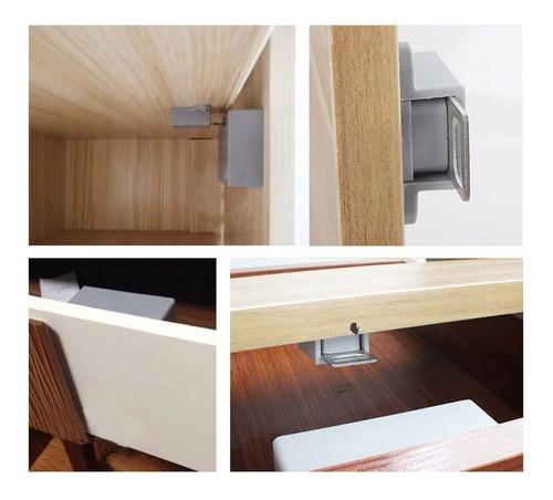 cerradura digital para gabinete color gris, llave magnética