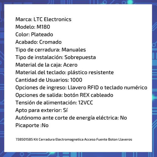 cerradura electromagnética  350 m180 consorcio edificio