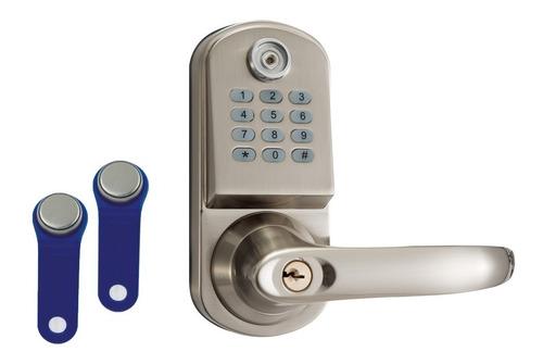 cerradura electrónica contraseña 2 pastillas  llave mecánica