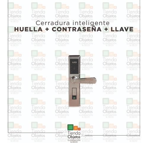 cerradura electronica digital huella llave cuotas