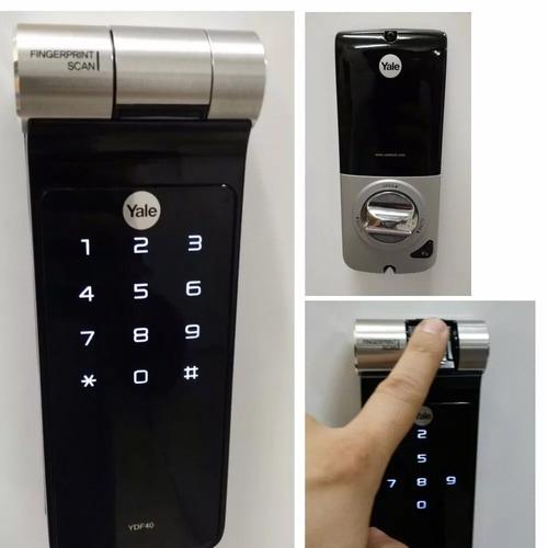 cerradura electronica huella dactilar contraseña yale ydf40