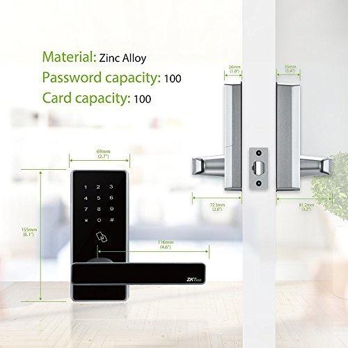 cerradura electrónica inteligente alarma varias formas de desbloqueo sencilla instalación gran capacidad de contraseñas