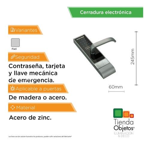 cerradura electronica inteligente puerta tarjeta de acero