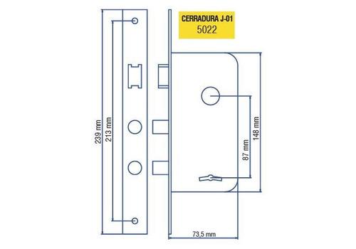 cerradura elisil 5022 j01 tipo 101 | abelenda hnos
