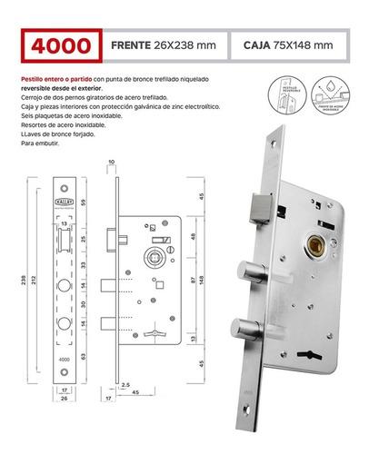 cerradura kallay 4000 alta seguridad casa puerta entrada