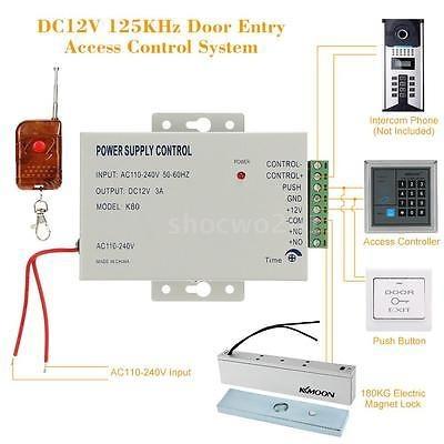 cerradura magnética eléctrica bloqueo acceso control sistema