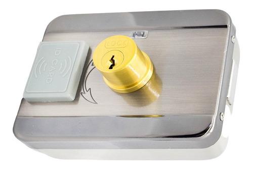 cerradura motorizada doble tambor 12v control acceso m208s