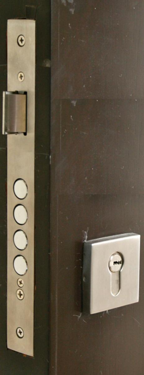 Cerradura para puerta de maxima seguridad 3 pasadores envio en mercado libre - Cerraduras para puertas de madera precios ...