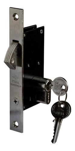 cerradura pico de loro cisa 30mm cilindro doble (5% off)