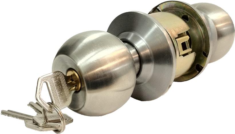 Cerradura pomo con llaves para puertas de habitaci n o for Cerradura para puerta de bano