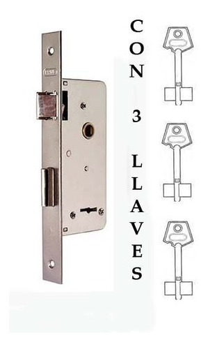 cerradura prive 200 compatible totalmente con trabex 6624, kallay 4003, giaco 1005, andif 855, con 3 llaves