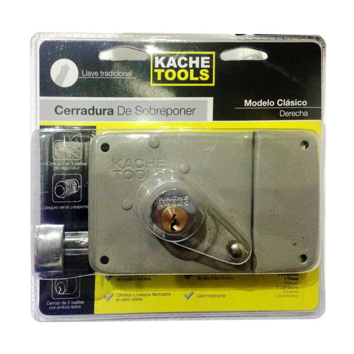 cerradura sobreponer ref 715 clasica derecha kache tools (u.